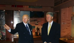 "Bill Clinton Visits the Kon-Tiki Museum  ""Bill Clinton was so charming that it was almost frightening!"" The former US President had a tour of the Kon-Tiki museum with Thor Heyerdahl Jr. in the late nineties. Arriving in a helicopter, he said, 'this is a private visit so no journalists, no photographer, no security, just you and me'. Clinton interrupted Thor as he began explaining the exhibits, ""he said, 'well I've read your father's books'""."